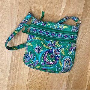 Vera Bradley Crossbody Bag Green Paisley